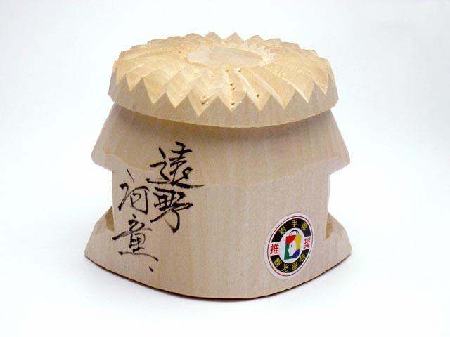 木彫り河童<シナノキ>オス背面画像