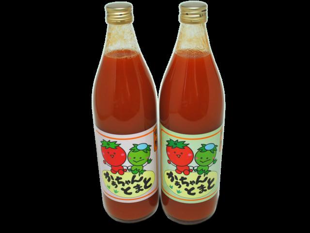 かあちゃんトマト(900ml×2本セット)商品写真