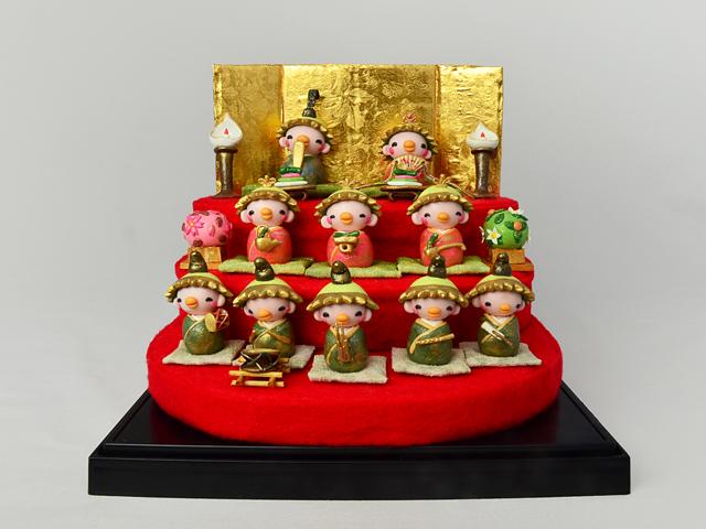 かっぱのおひなさま3段飾り(ケース付)【受注生産】